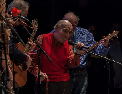 David Amran, George Wein and Pete Seeger.