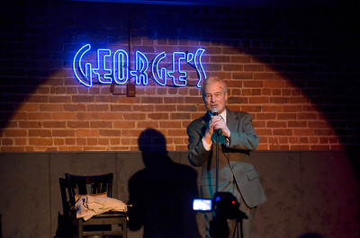 Jim Giovanni (Buck Butane), comedian - TOTAL SHOW: Jim Giovanni (Buck Butane), comedian; Freddy Clarke, classical guitarist; Hearts of Romaine (Ray McNaughton, Murray Orrick, Jean Dean); J.D. Zhang, quick change artist, magician - George's Night Club, San Rafael, CA. March 7, 2012