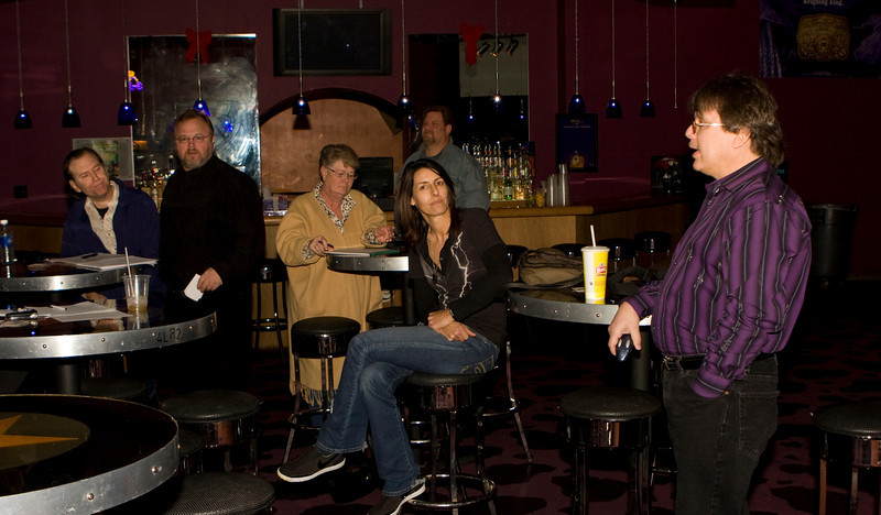 Tommy Hill talks to participants of the first Georgia Country Music Seminar at Wild Bill's in Duluth, Georgia on January 12, 2008.