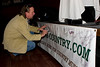 Ed Keith signs the Georgia Country banner at the first Georgia Country Music Seminar at Wild Bill's in Duluth, Georgia on January 12, 2008.