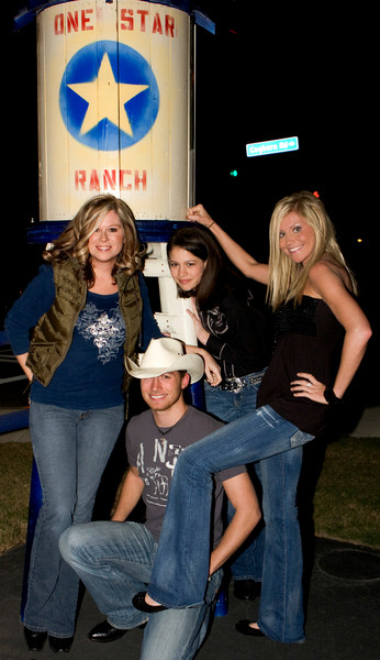 l-r April Cummings, Jason Coley, Rachel Farley and Cori Jean at the One Star Ranch.