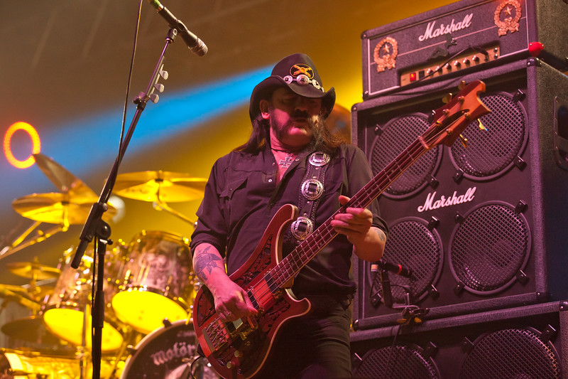 Lemmy with his Marshall Stack