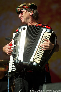 "Yuri Lemeshev of Gogol Bordello performs on November 12, 2011 during ""Orlando Calling 2011"" at The Citrus Bowl in Orlando, Florida"