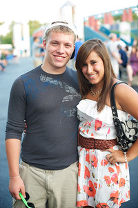Adam Evanoff and Ashley Bush from Columbus, OH at PNC Pavilion for the Goo Goo Dolls