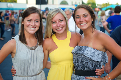 Lindsay Hartmann, Ellen Sartori and Claire Deglow of N.KY at PNC Pavilion for the Goo Goo Dolls