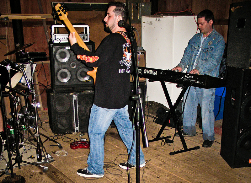 Stephan Marcello and Rats keyboardest Dan Smiraglia in the barn at Ratstock VIII in 2006. RIP Peppi 1945-2013 We will miss you, Rat On!