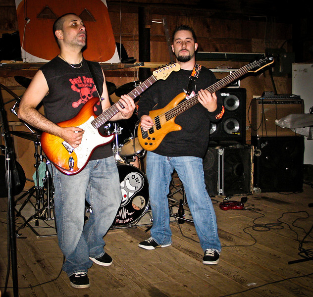 Gino and Stephan Marcello rock out in the barn at Ratstock VIII in 2006. RIP Peppi 1945-2013 We will miss you, Rat On!