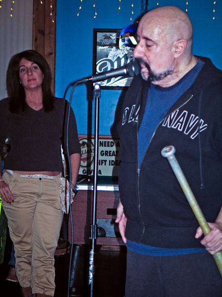 Peppi Marcello and his bat leading the Good Rats in Piscataway Nj in 2005. RIP Peppi 1945-2013 We will miss you, Rat On!