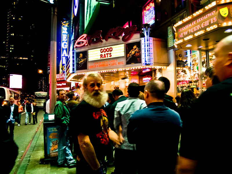 Jazz outside BB Kings for the 2008 original Good Rats reunion in New York City. RIP Peppi 1945-2013 We will miss you, Rat On!