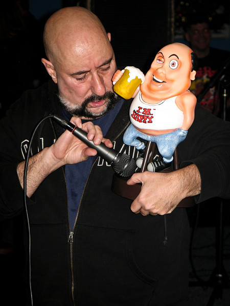 Peppi Marcello with the little beer guy inPiscataway, NJ in 2005. RIP Peppi 1945-2013 We will miss you, Rat On!