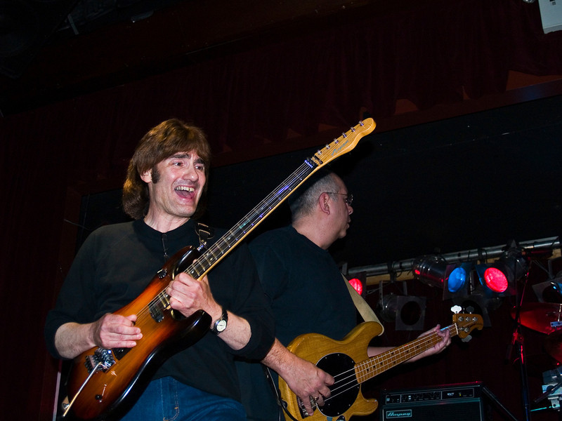 """John """"the Cat"""" Gatto  and Bruce Kulick at the 2008 original Good Rats reunion at BB Kings. RIP Peppi 1945-2013 We will miss you, Rat On!"""