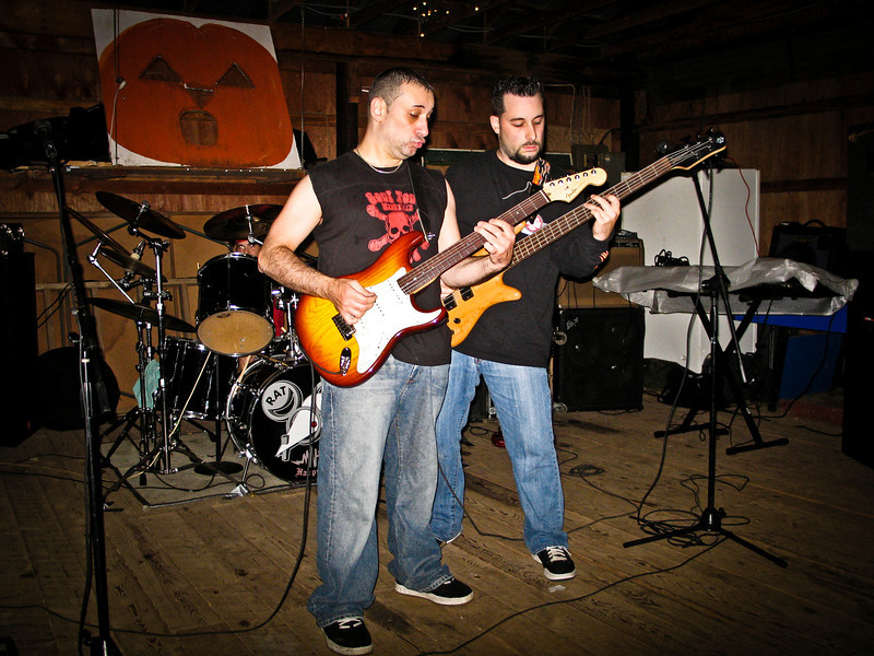 Gino and Stephan Marcello in the barn at Ratstock VIII in 2006. RIP Peppi 1945-2013 We will miss you, Rat On!