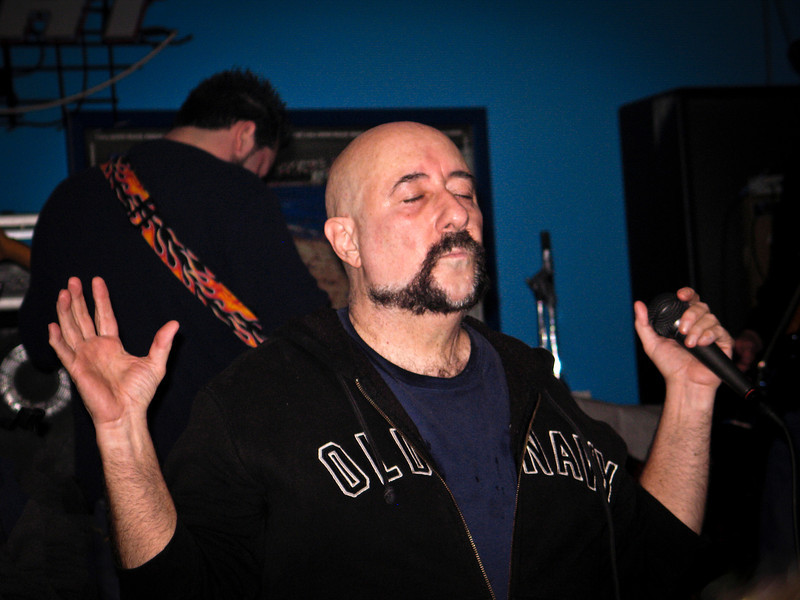 Peppi Marcello tunes in to the music during a  Good Rats show in Piscataway NJ, 2005. RIP Peppi 1945-2013 We will miss you, Rat On!