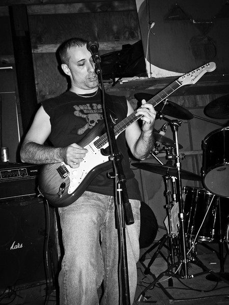 Gino Marcellon lead guitar at Ratstock VIII, 2006 indoors in the barn. RIP Peppi 1945-2013 We will miss you, Rat On!