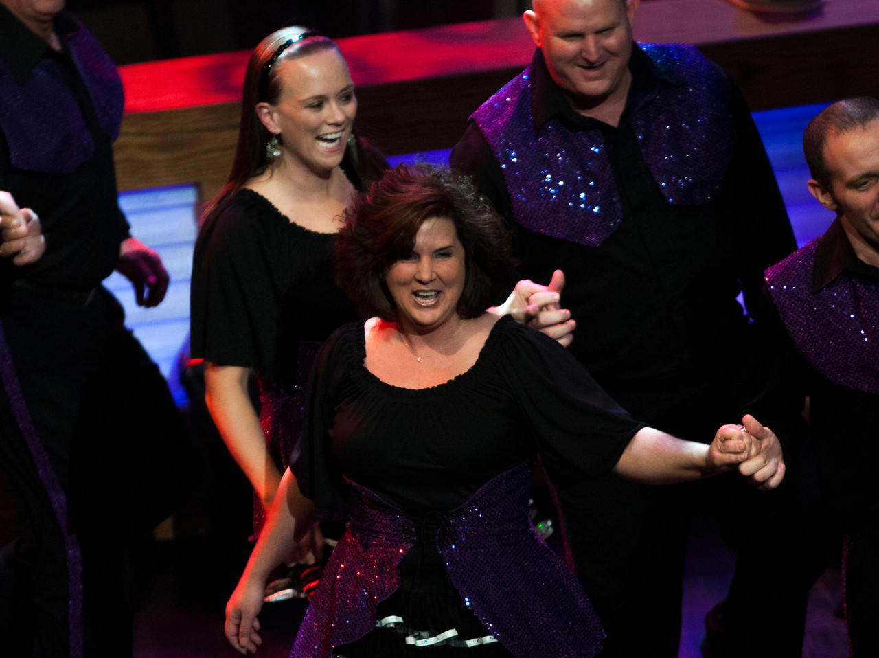 Square dancers at the Grand Ole Opry 87th Birthday Party in Nashville,Tennessee.