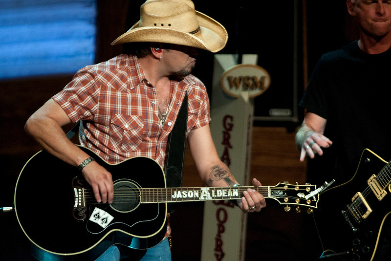 Jason Aldean at the Grand Ole Opry 87th Birthday Party in Nashville,Tennessee.