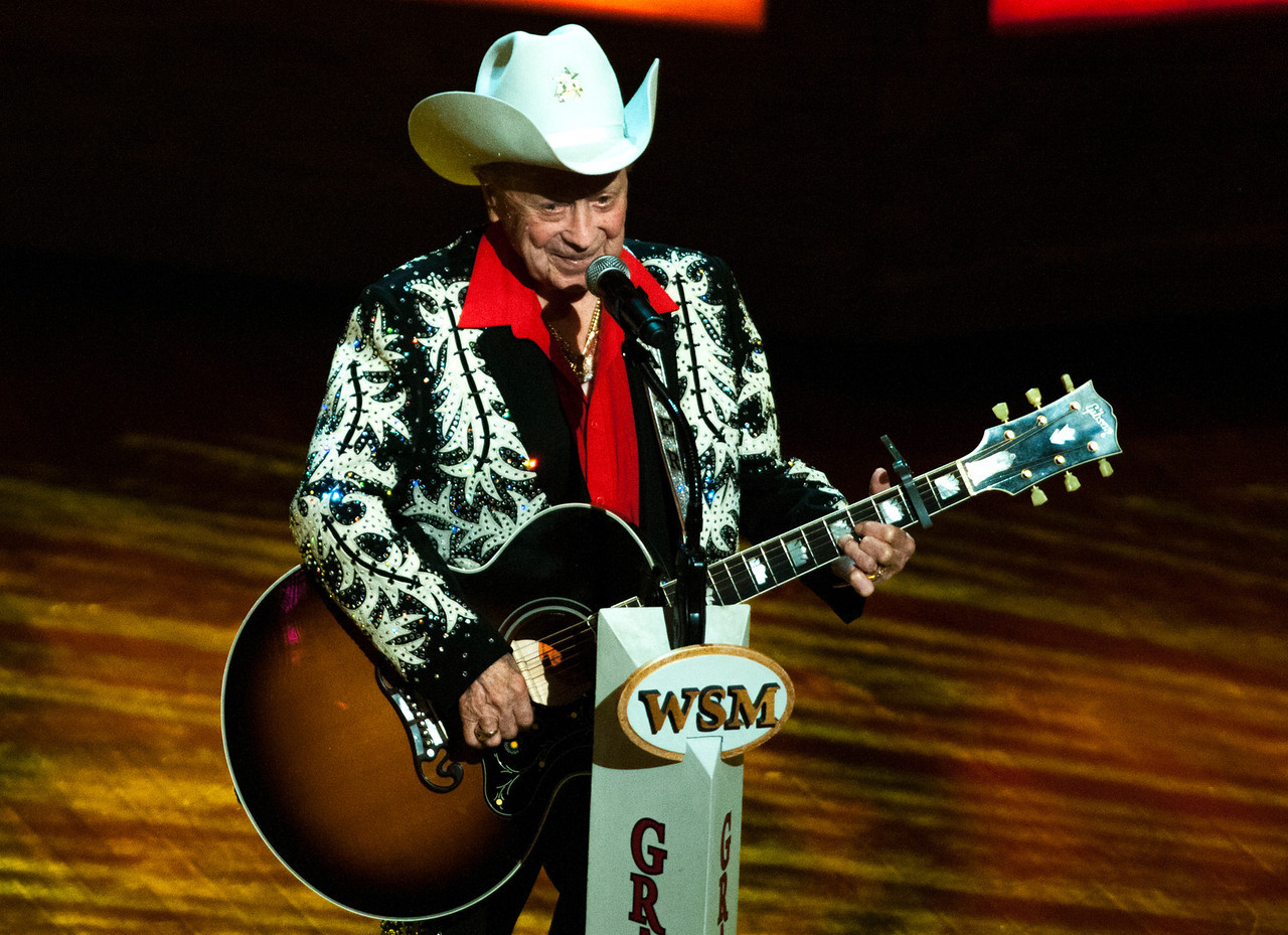 Little Jimmy Dickens at the Grand Ole Opry 87th Birthday Party in Nashville,Tennessee.