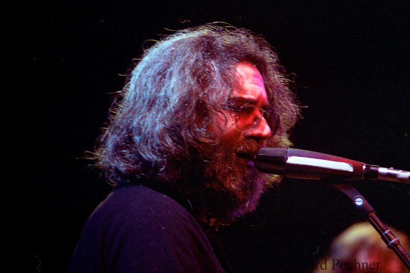 Jerry Garcia at the Cambodian Refugee Benefit,  Oakland Coliseum,  1/13/80