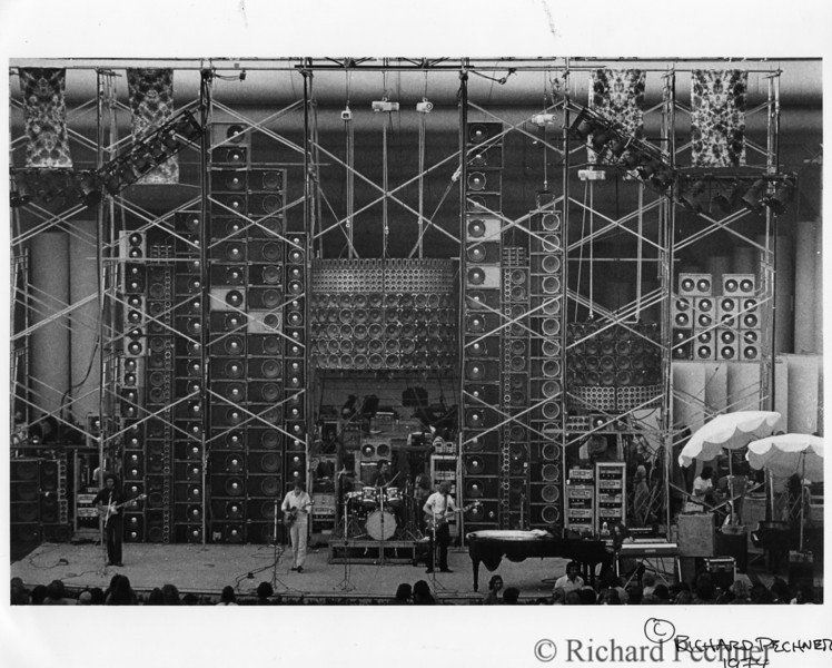 Hollywood Bowl, Los Angeles, 7.21.1974. Owsely's piano cluster debut and only appearance.