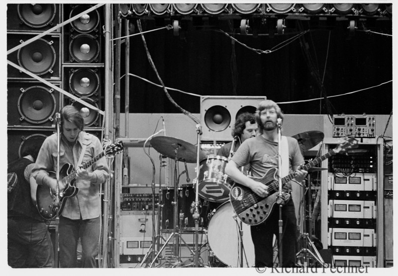 Bobby, Billy and Phil during sound check, Portland Memorial Coliseum  5.19.74
