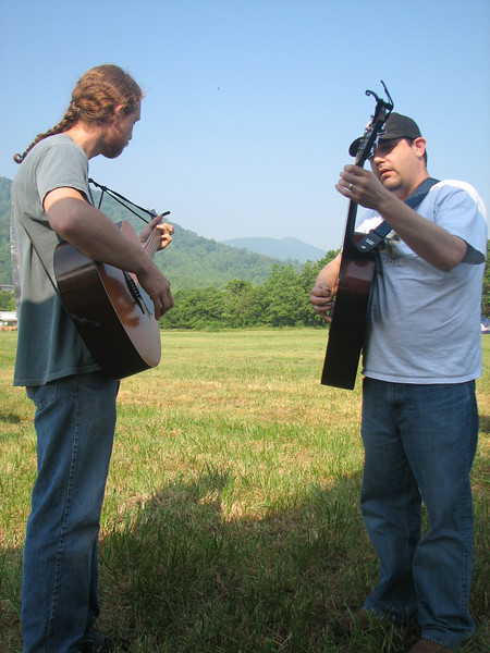 Kelby and Mike pickin' some guitar