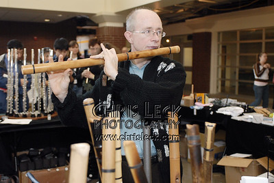 Scott Kauffman and his wooden flutes
