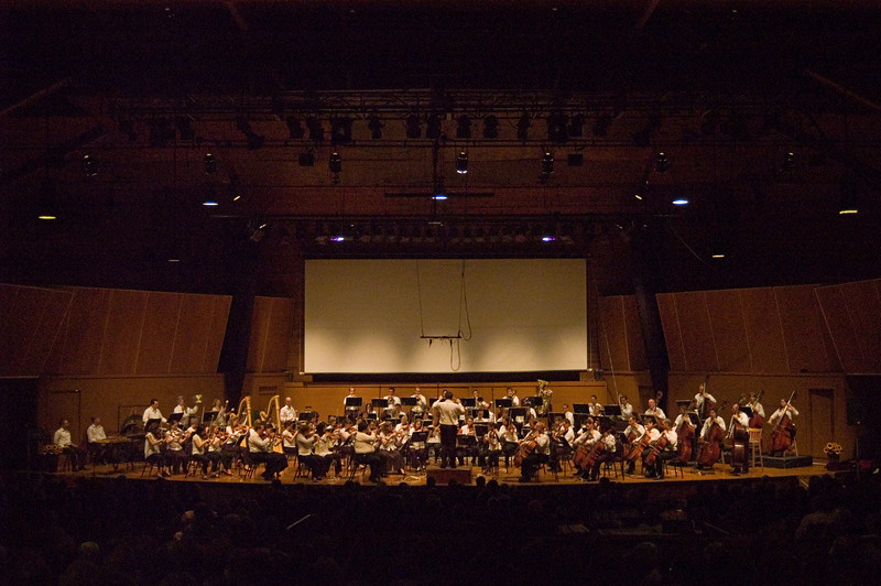 The CMF Festival Orchestra, conducted by Michael Christie.