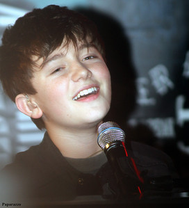 Greyson Chance performing at the Hard Rock Cafe in Boston, Massachusetts on September 20, 2011