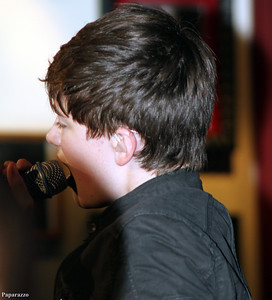Greyson Chance in concert at the Hard Rock Cafe in Boston, Massachusetts on September 20, 2011.