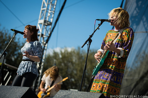 Hannah Hooper and Christian Zucconi of Grouplove perform on December 1, 2012 during 97X Next Big Thing at Vinoy Park in St. Petersburg, Florida