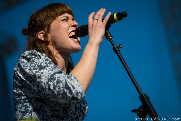 Hannah Hooper of Grouplove performs on December 1, 2012 during 97X Next Big Thing at Vinoy Park in St. Petersburg, Florida
