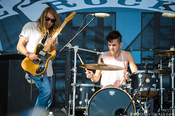 Andrew Wessen and Ryan Rabin of Grouplove perform on December 1, 2012 during 97X Next Big Thing at Vinoy Park in St. Petersburg, Florida