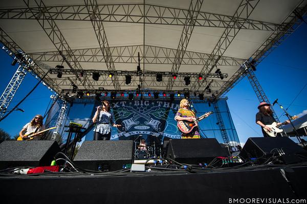 Grouplove perform on December 1, 2012 during 97X Next Big Thing at Vinoy Park in St. Petersburg, Florida