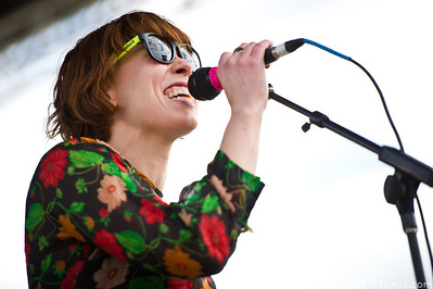 Hannah Hooper of Grouplove performs on December 3, 2011 during 97X Next Big Thing at 1-800-ASK-GARY Amphitheatre in Tampa, Florida