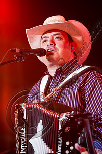 "LOS ANGELES, CA - AUGUST 25:  Vocalist Ricardo Javier ""Ricky"" Munoz of Intocable performs at Univision Radio's H2O music festival at Los Angeles Historical Park on August 25, 2012 in Los Angeles, California.  (Photo by Chelsea Lauren/WireImage)"