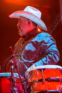 LOS ANGELES, CA - AUGUST 25:  Percussionist Sergio Serna of Intocable performs at Univision Radio's H2O music festival at Los Angeles Historical Park on August 25, 2012 in Los Angeles, California.  (Photo by Chelsea Lauren/WireImage)