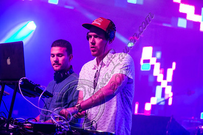 LOS ANGELES, CA - AUGUST 03:  DJs Oliver Goldstein (L) and Vaughn Oliver of Oliver perform at the HARD Summer music festival at Los Angeles Historical Park on August 3, 2012 in Los Angeles, California.  (Photo by Chelsea Lauren/WireImage)