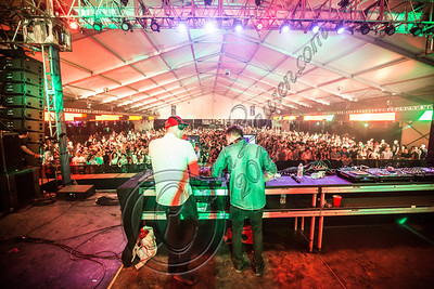 LOS ANGELES, CA - AUGUST 03:  DJs Vaughn Oliver (L) and Oliver Goldstein of Oliver perform at the HARD Summer music festival at Los Angeles Historical Park on August 3, 2012 in Los Angeles, California.  (Photo by Chelsea Lauren/WireImage)