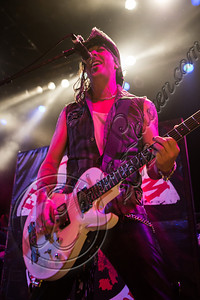 WEST HOLLYWOOD, CA - NOVEMBER 13:  Guitarist Virus of Eve To Adam performs at House of Blues Sunset Strip on November 13, 2012 in West Hollywood, California.  (Photo by Chelsea Lauren/WireImage)