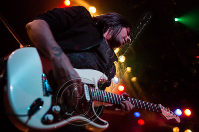WEST HOLLYWOOD, CA - NOVEMBER 13:  Guitarist Gaurav Bali of Eve To Adam performs at House of Blues Sunset Strip on November 13, 2012 in West Hollywood, California.  (Photo by Chelsea Lauren/WireImage)