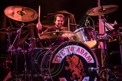 WEST HOLLYWOOD, CA - NOVEMBER 13:  Drummer Alex Sassaris of Eve To Adam performs at House of Blues Sunset Strip on November 13, 2012 in West Hollywood, California.  (Photo by Chelsea Lauren/WireImage)