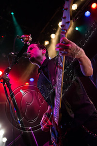 WEST HOLLYWOOD, CA - NOVEMBER 13:  Bassist Luis Espaillat of Eve To Adam performs at House of Blues Sunset Strip on November 13, 2012 in West Hollywood, California.  (Photo by Chelsea Lauren/WireImage)