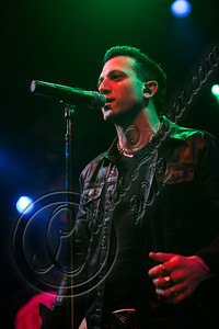 WEST HOLLYWOOD, CA - NOVEMBER 13:  Vocalist / guitarist Taki Sassaris of Eve To Adam performs at House of Blues Sunset Strip on November 13, 2012 in West Hollywood, California.  (Photo by Chelsea Lauren/WireImage)