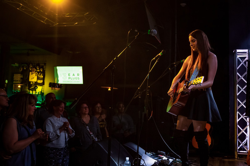 Haley Jonay opening for Maggie Rose with Them Vibes at the Hi-Fi in Indianapolis, Indiana. Photo by Tony Vasquez.