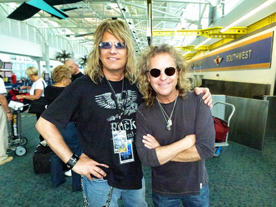 Jack Blades; bass player, singer (Night Ranger, Damn Yankees).  Hangin' at the airport waitin' for our flight to come in....delayed!!!