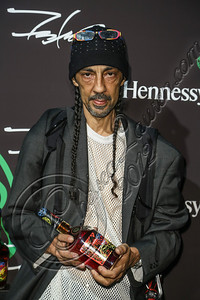 LOS ANGELES, CA - AUGUST 01:  Street artist Futura 2000 arrives at Hennessy's unveiling of a limited edition bottle designed by street artist Futura at Milk Studios on August 1, 2012 in Los Angeles, California.  (Photo by Chelsea Lauren/WireImage)