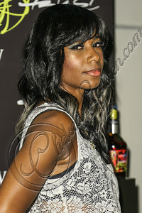 LOS ANGELES, CA - AUGUST 01:  Singer Santigold arrives at Hennessy's unveiling of a limited edition bottle designed by street artist Futura at Milk Studios on August 1, 2012 in Los Angeles, California.  (Photo by Chelsea Lauren/WireImage)