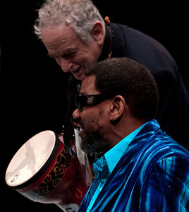 David Amram and henry Butler at sound check.