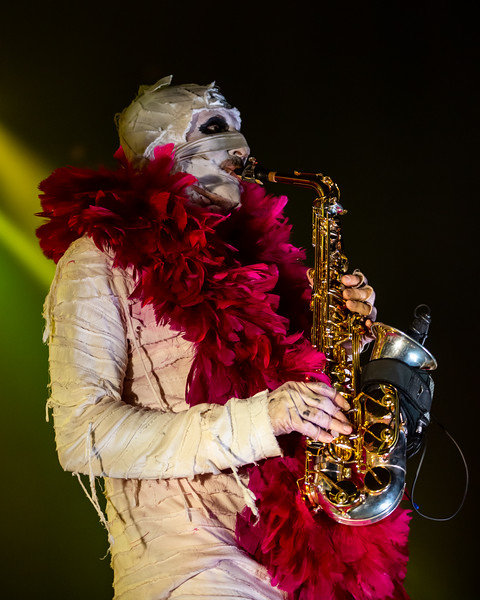 Here Come The Mummies at the Brown County Music Center. Photo by Tony Vasquez for Jams Plus Media.