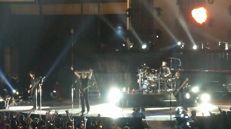 Nickelback Finale with Pyrotechnics - no song
